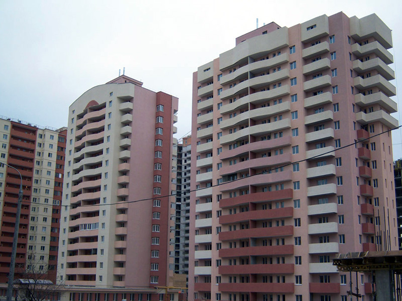 Жилой комплекс на пересечении улиц Ерошевского - Скляренко